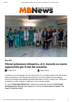 Fibrosi polmonare idiopatica, al S. Gerardo un nuovo apparecchio per il test del cammino-1